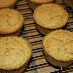 Muffins de banana, kamut e nozes