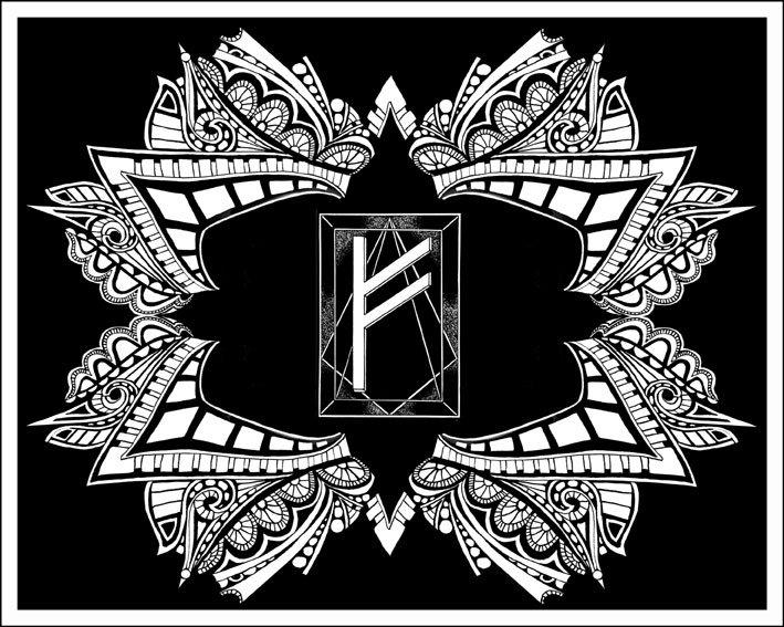 Ela é a runa da riqueza e do bem-estar em todas as suas manifestações, é também a runa das chamas, o fogo da criação e o fogo da destruição.