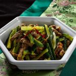 Salada de carne com pepino