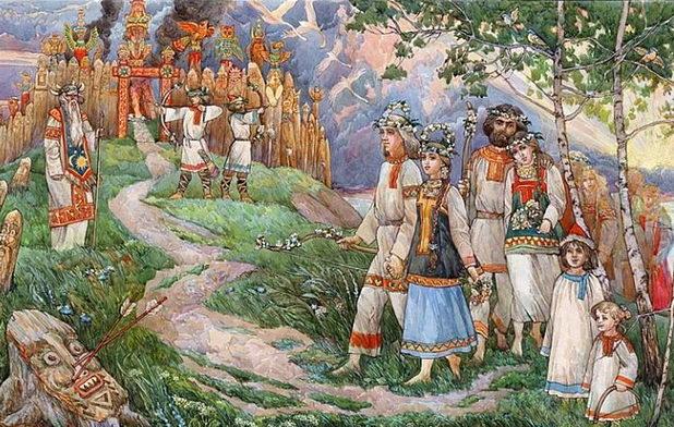 Os antigos eslavos reverenciavam a deusa do amor, Lada, que personificava o lar, a família e a beleza eterna. As pessoas daquele tempo apelavam a ela pelo retorno do homem amado, para aumentar sentimentos entre os cônjuges e para um casamento.