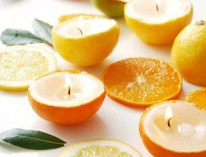 vela laranja casa aromatizadores caseiros