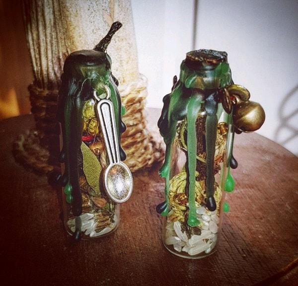 garrafas de bruxas proteção amor dinheiro magia