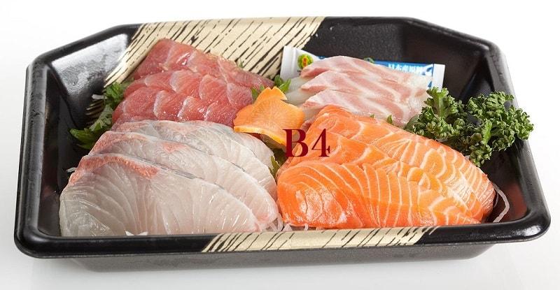 Vitamina B4 colina dieta frutos do mar carne ovos cérebro