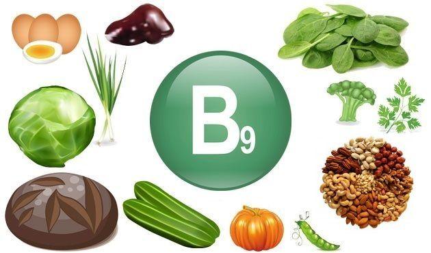 sintomas falta de vitamina b9