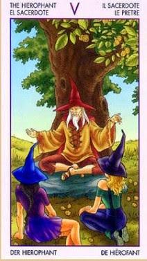 Hierofante tarot cartas adivinhação futuro sorte conselho magia Tarô