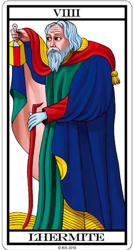Eremita tarot cartas adivinhação futuro sorte conselho magia