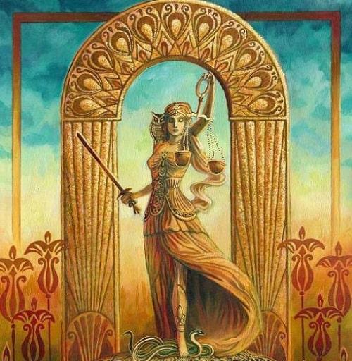 Justiça tarot cartas adivinhação futuro sorte conselho magia