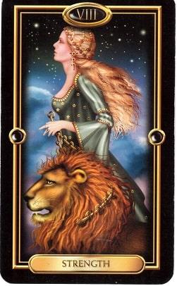Força tarot cartas adivinhação futuro sorte conselho magia Tarô