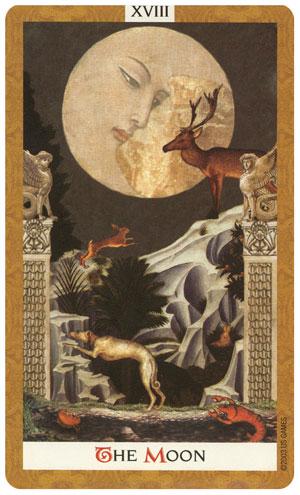 Lua tarot cartas adivinhação futuro sorte conselho magia Tarô