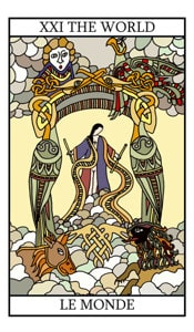 Mundo tarot cartas adivinhação futuro sorte conselho magia Tarô