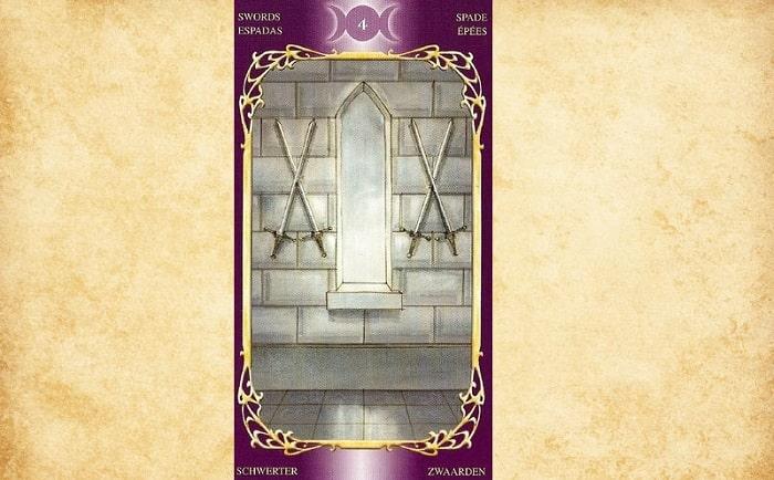4 de Espadas tarot magia esoterismo significado simbolismo