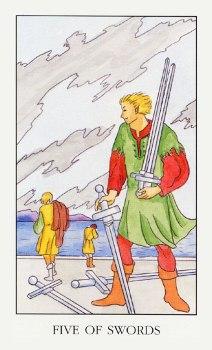 5 de Espadas magia esoterismo tarot simbolismo significado