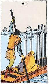 6 de Espadas tarot adivinhação magia esoterismo significado simbolismo