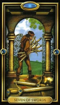 7 de Espadas magia esoterismo significado simbolismo tarot