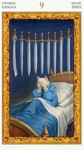 9 de Espadas magia esoterismo significado simbolismo tarot
