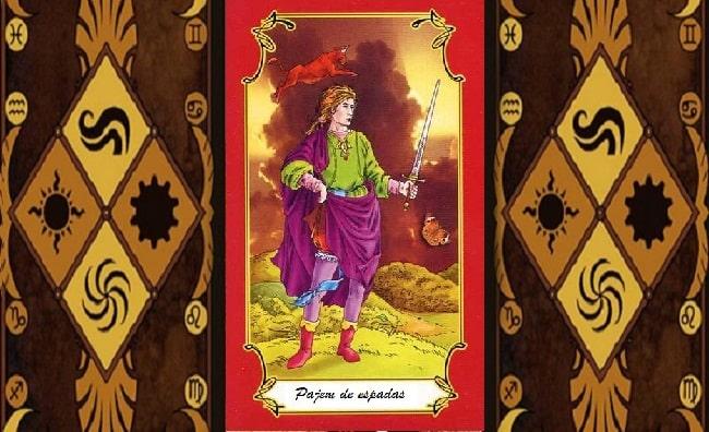 Pajem de Espadas magia simbolismo esoterismo significado tarot